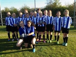 under 13 girls county champions May 2015