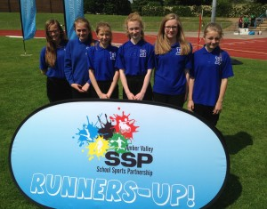 Yr 7 girls' athletics - June 2015 - Distict Runners-Up